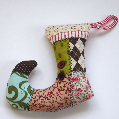 Lavender Filled Christmas Stocking