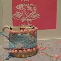CUSTOM MAKE  - Mug Hugger (mug cosy) - Summer Fancy