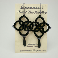 Sparkly Night - Tatted Lace Earrings