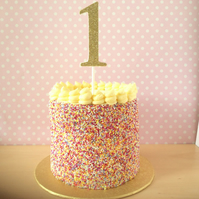 "Cake topper number in glitter (large 4"" tall)"