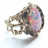 DragonFly Fire Opal Ring