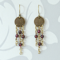 Bohemian Garnet Dream Earrings