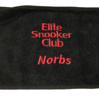 Embroidered Sports Towel - Text Only (Snooker, Golf, Tennis)