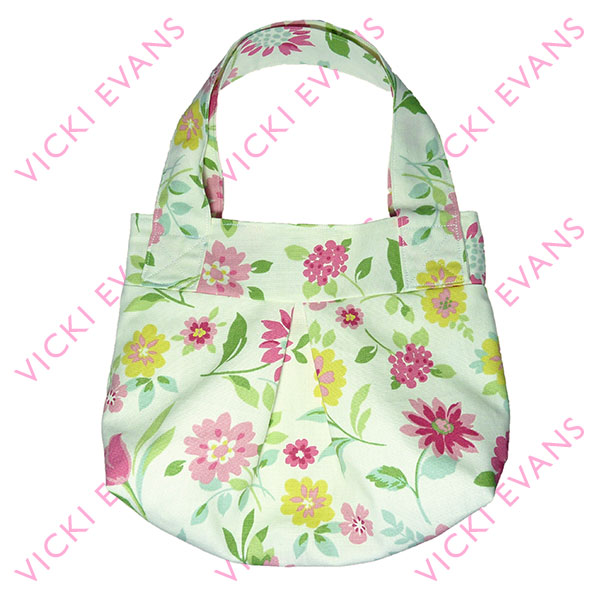 Floral Gathered Tote Bag