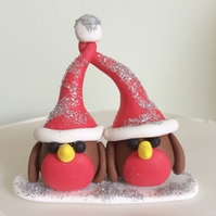 Polymer Clay Robin Christmas Cake Decoration Topper