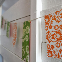 SALE - Orange and Green Vintage Paper Bunting - 3m length