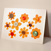 Mothers Day Button Flower Card