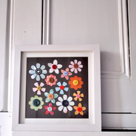 Summer Flowers Framed Collage Picture - Mothers Day gift