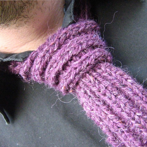 knitted purple tie *RESERVED*