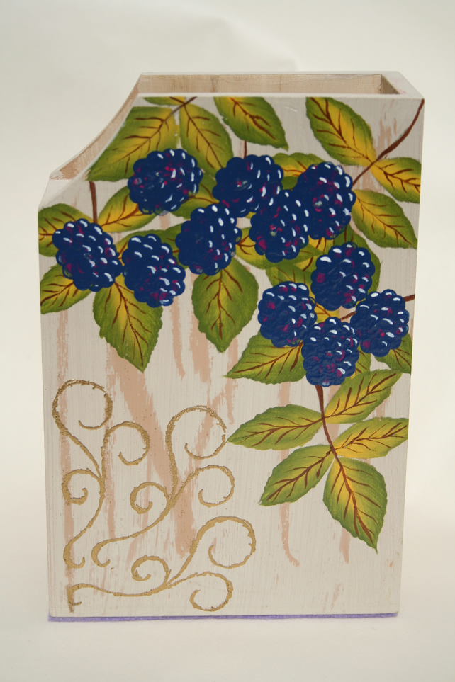 Hand Painted Utensil Box