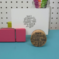 Handmade Thank You Word Cloud Stamp