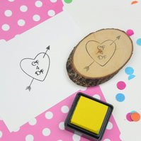 Personalise Heart and Arrow Rubber Stamp