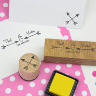 Personalised Arrows Couple Stamp