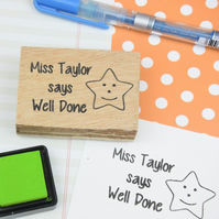 Personalised Teacher Stamp - your name and message