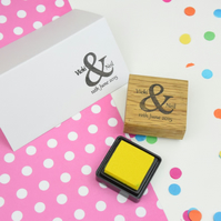 Handmade Personalised Ampersand Couple Stamp