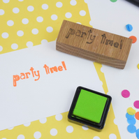 Handmade rubber stamp - Party Time