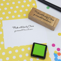 Personalised Card Maker's Stamp