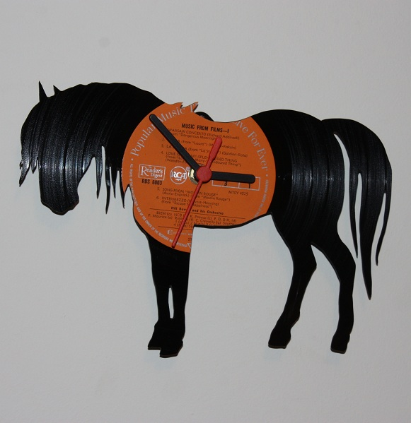 Vinyl Record Wall Clock - Horse