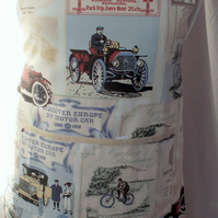 Hand made full apron vintage car posters