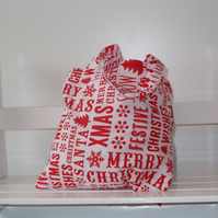 Mini christmas tote bag