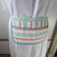Hand made apron with roses
