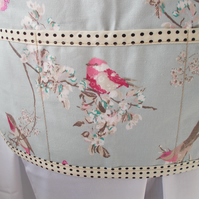 Hand made apron with birds.