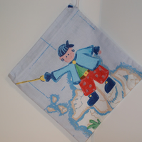Mini drawstring bag with Pieces of eight