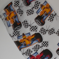 Mini drawstring bag with racing cars