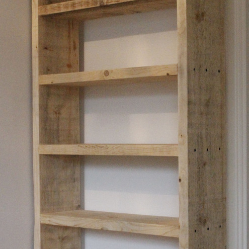 Reclaimed timber bookcase folksy for Reclaimed wood bookcase diy
