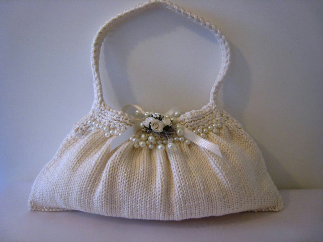 Knitted Wedding Gifts: PATTERN ONLY Bridal Bag Hand Knit