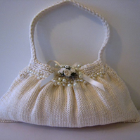 PATTERN ONLY Bridal Bag Hand Knit