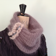 Hand knitted Vintage Inspired luxury cowl ladies gift