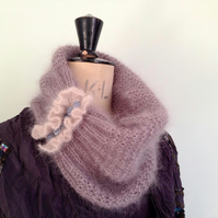 PATTERN ONLY Scarf Cowl and Hand warmer Set Luxury Gift Knit