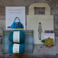 Hand Knit Kit Tweed Handbag
