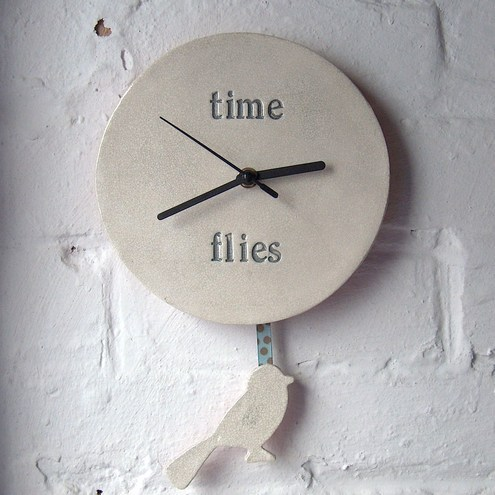 'Time Flies' Pendulum Clock