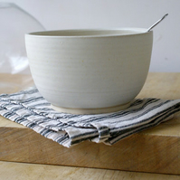 Made to order - Set of four large pottery soup bowls choose a colour