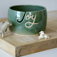 Made to order - Your name on a hand thrown pottery yarn bowl
