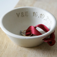 Made to order - One custom ring bowl in your choice of colour