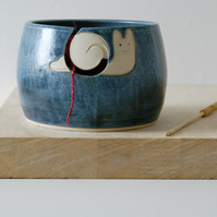 Made to Order - The happy snail yarn bowl, hand thrown pottery yarn bowl