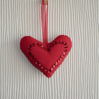 Fabric Heart Decoration
