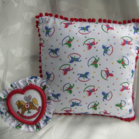 Rocking Horse Cushion and Picture