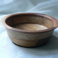 Segmented Wooden Bowl with Lip