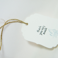 20 Thank you tags for favours or bridal party gifts