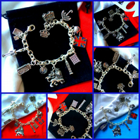 SALE - Best of British  World Cup Themed Charm bracelet