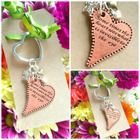 Sale Some times the Heart sees what is invisible to the Eye - Keyring Bag Charm