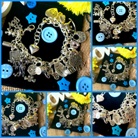 NEW MUM - BOY - Deluxe Themed Charm Bracelet - Baby - Newborn