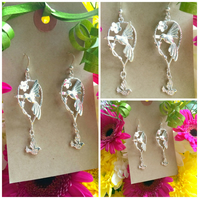 Pretty Bird Drop Earrings