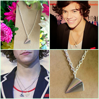 One Directions Harry Styles Inspired Necklace - Silver Colour Celebrity insp