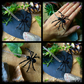 OFFER Black Bendy legged spider necklace, Halloween