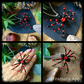 OFFER Red and Black Bendy legged spider necklace, Halloween